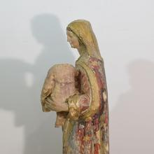 Carved stone madonna, France circa 1750